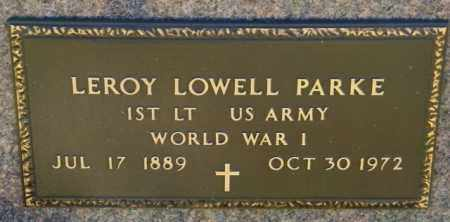 PARKE, LEROY LOWELL - Lincoln County, South Dakota | LEROY LOWELL PARKE - South Dakota Gravestone Photos