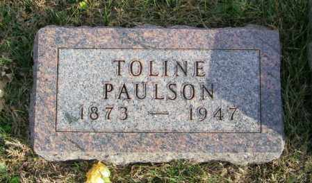 PAULSON, TOLINE - Lincoln County, South Dakota | TOLINE PAULSON - South Dakota Gravestone Photos