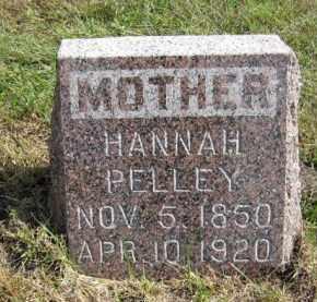 PELLEY, HANNAH - Lincoln County, South Dakota | HANNAH PELLEY - South Dakota Gravestone Photos