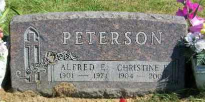 PETERSON, CHRISTINE E. - Lincoln County, South Dakota | CHRISTINE E. PETERSON - South Dakota Gravestone Photos