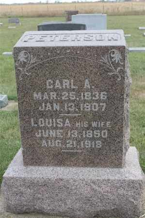 PETERSON, LOUISA - Lincoln County, South Dakota | LOUISA PETERSON - South Dakota Gravestone Photos