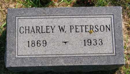 PETERSON, CHARLEY W. - Lincoln County, South Dakota   CHARLEY W. PETERSON - South Dakota Gravestone Photos
