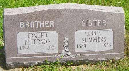 PETERSON, EDMUND - Lincoln County, South Dakota   EDMUND PETERSON - South Dakota Gravestone Photos