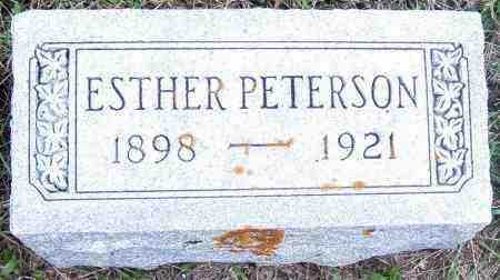 PETERSON, ESTHER - Lincoln County, South Dakota | ESTHER PETERSON - South Dakota Gravestone Photos