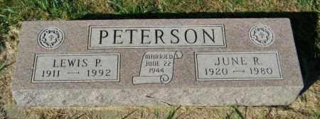 PETERSON, JUNE R. - Lincoln County, South Dakota   JUNE R. PETERSON - South Dakota Gravestone Photos