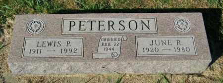 PETERSON, JUNE R. - Lincoln County, South Dakota | JUNE R. PETERSON - South Dakota Gravestone Photos