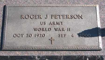 PETERSON, ROGER J. - Lincoln County, South Dakota | ROGER J. PETERSON - South Dakota Gravestone Photos