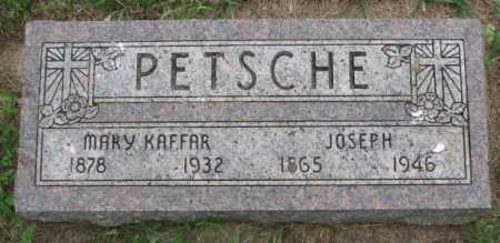 KAFFAR PETSCHE, MARY - Lincoln County, South Dakota | MARY KAFFAR PETSCHE - South Dakota Gravestone Photos