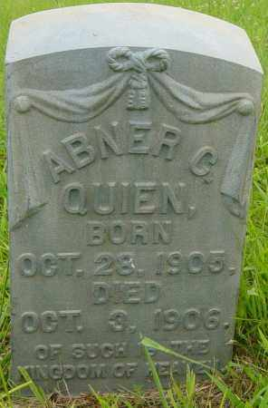 QUIEN, ABNER C - Lincoln County, South Dakota | ABNER C QUIEN - South Dakota Gravestone Photos