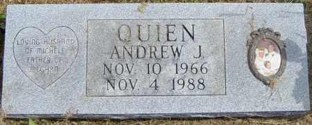 QUIEN, ANDREW J - Lincoln County, South Dakota | ANDREW J QUIEN - South Dakota Gravestone Photos