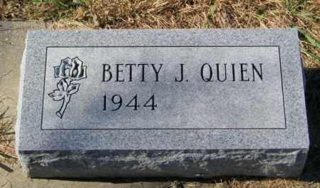 QUIEN, BETTY J - Lincoln County, South Dakota | BETTY J QUIEN - South Dakota Gravestone Photos