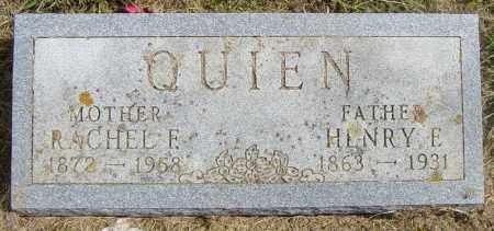 QUIEN, HENRY E - Lincoln County, South Dakota | HENRY E QUIEN - South Dakota Gravestone Photos