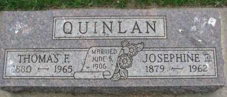 QUINLAN, JOSEPHINE E. - Lincoln County, South Dakota | JOSEPHINE E. QUINLAN - South Dakota Gravestone Photos