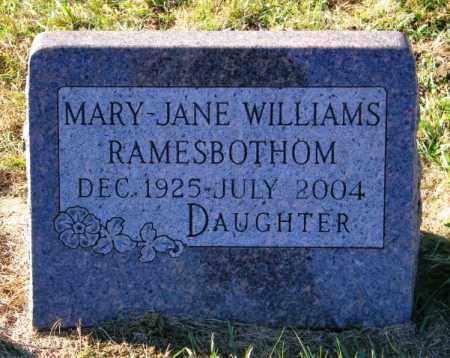 RAMESBOTHOM, MARY JANE - Lincoln County, South Dakota | MARY JANE RAMESBOTHOM - South Dakota Gravestone Photos