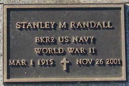 RANDALL, STANLEY M. - Lincoln County, South Dakota | STANLEY M. RANDALL - South Dakota Gravestone Photos