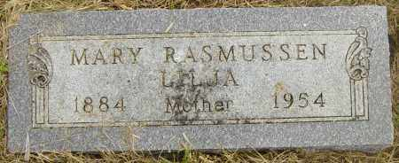 RASMUSSEN-LILJA, MARY - Lincoln County, South Dakota   MARY RASMUSSEN-LILJA - South Dakota Gravestone Photos