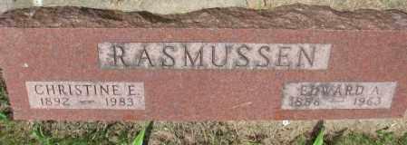 RASMUSSEN, CHRISTINE E. - Lincoln County, South Dakota | CHRISTINE E. RASMUSSEN - South Dakota Gravestone Photos