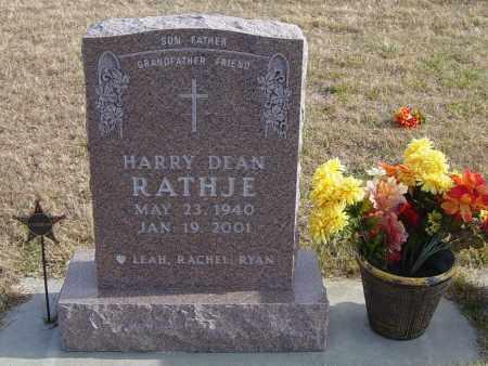 RATHJE, HARRY DEAN - Lincoln County, South Dakota   HARRY DEAN RATHJE - South Dakota Gravestone Photos