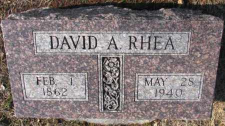 RHEA, DAVID A. - Lincoln County, South Dakota | DAVID A. RHEA - South Dakota Gravestone Photos