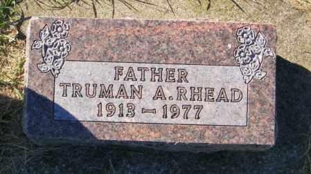 RHEAD, TRUMAN A. - Lincoln County, South Dakota   TRUMAN A. RHEAD - South Dakota Gravestone Photos