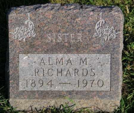 RICHARDS, ALMA M. - Lincoln County, South Dakota | ALMA M. RICHARDS - South Dakota Gravestone Photos