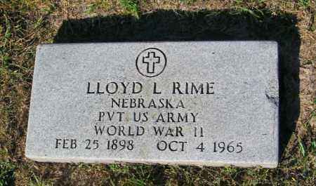 RIME, LLOYD L - Lincoln County, South Dakota | LLOYD L RIME - South Dakota Gravestone Photos