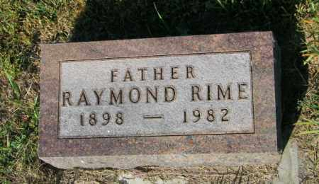 RIME, RAYMOND - Lincoln County, South Dakota | RAYMOND RIME - South Dakota Gravestone Photos