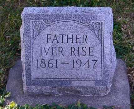 RISE, IVER - Lincoln County, South Dakota | IVER RISE - South Dakota Gravestone Photos