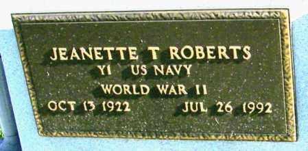 ROBERTS, JEANETTE T - Lincoln County, South Dakota | JEANETTE T ROBERTS - South Dakota Gravestone Photos