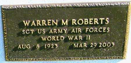 ROBERTS, WARREN M - Lincoln County, South Dakota | WARREN M ROBERTS - South Dakota Gravestone Photos