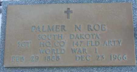ROE, PALMER N. (WW I) - Lincoln County, South Dakota | PALMER N. (WW I) ROE - South Dakota Gravestone Photos