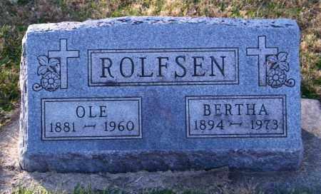 ROLFSEN, BERTHA - Lincoln County, South Dakota | BERTHA ROLFSEN - South Dakota Gravestone Photos