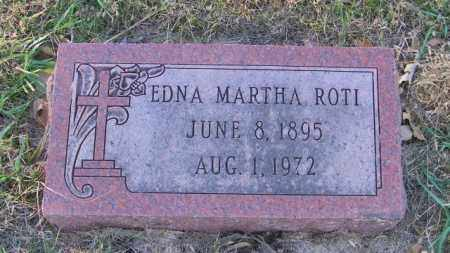 ROTI, EDNA MARTHA - Lincoln County, South Dakota | EDNA MARTHA ROTI - South Dakota Gravestone Photos
