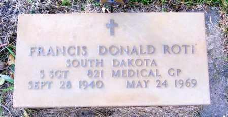 ROTI, FRANCIS DONALD - Lincoln County, South Dakota | FRANCIS DONALD ROTI - South Dakota Gravestone Photos