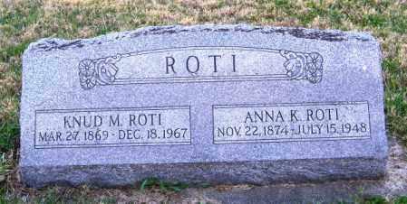 ROTI, KNUD M. - Lincoln County, South Dakota   KNUD M. ROTI - South Dakota Gravestone Photos