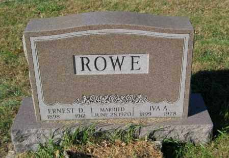ROWE, IVA A. - Lincoln County, South Dakota | IVA A. ROWE - South Dakota Gravestone Photos