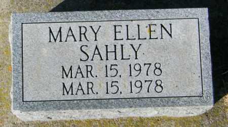 SAHLY, MARY ELLEN - Lincoln County, South Dakota   MARY ELLEN SAHLY - South Dakota Gravestone Photos