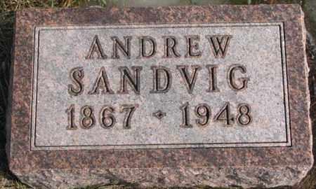 SANDVIG, ANDREW - Lincoln County, South Dakota | ANDREW SANDVIG - South Dakota Gravestone Photos