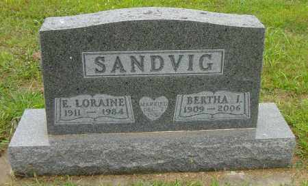 SANDVIG, BERTHA I - Lincoln County, South Dakota | BERTHA I SANDVIG - South Dakota Gravestone Photos
