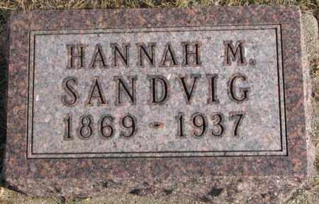 SANDVIG, HANNAH M. - Lincoln County, South Dakota | HANNAH M. SANDVIG - South Dakota Gravestone Photos