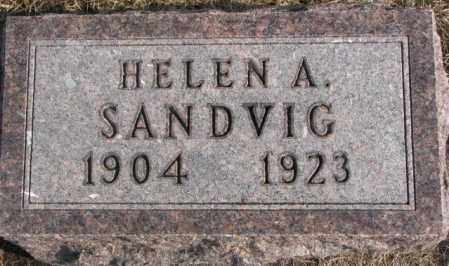 SANDVIG, HELEN A. - Lincoln County, South Dakota   HELEN A. SANDVIG - South Dakota Gravestone Photos