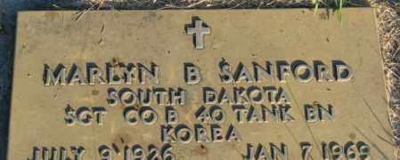 SANFORD, MARLYN B. - Lincoln County, South Dakota   MARLYN B. SANFORD - South Dakota Gravestone Photos