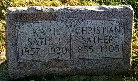 SATHER, CHRISTIAN - Lincoln County, South Dakota | CHRISTIAN SATHER - South Dakota Gravestone Photos