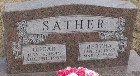 SATHER, BERTHA - Lincoln County, South Dakota | BERTHA SATHER - South Dakota Gravestone Photos