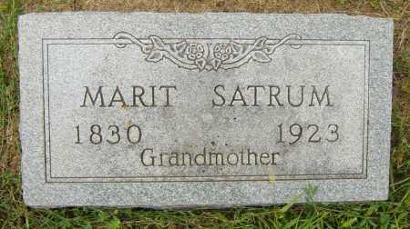 SATRUM, MARIT - Lincoln County, South Dakota | MARIT SATRUM - South Dakota Gravestone Photos