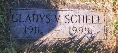 SCHELL, GLADYS V. - Lincoln County, South Dakota | GLADYS V. SCHELL - South Dakota Gravestone Photos