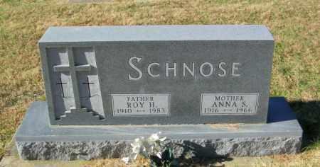 SCHNOSE, ANNA S - Lincoln County, South Dakota   ANNA S SCHNOSE - South Dakota Gravestone Photos