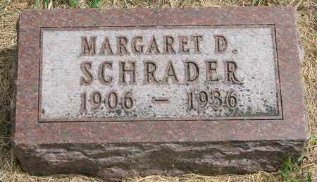 SCHRADER, MARGARET D. - Lincoln County, South Dakota | MARGARET D. SCHRADER - South Dakota Gravestone Photos