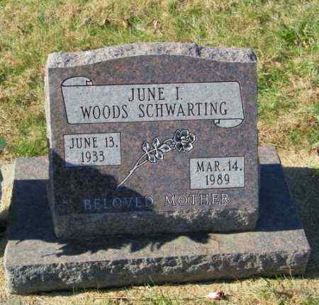 WOODS SCHWARTING, JUNE I - Lincoln County, South Dakota | JUNE I WOODS SCHWARTING - South Dakota Gravestone Photos