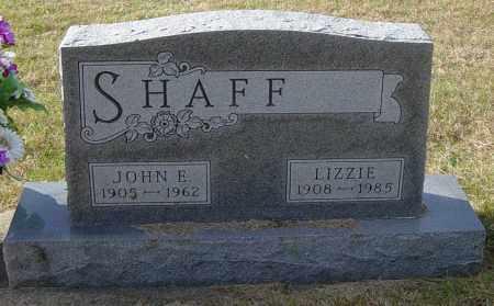 SHAFF, JOHN E - Lincoln County, South Dakota | JOHN E SHAFF - South Dakota Gravestone Photos
